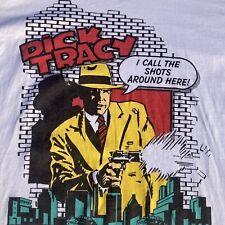 Vintage Disney Dick Tracy 1990's Rare White Xl Division 1 T Shirt Single Stitch