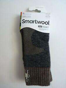 Smartwool PhD Hunt Men's Heavy Crew Socks Large Sz 9 - 11.5 Gray Brown NWT