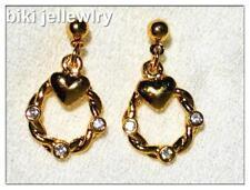 Alloy Drop/Dangle Yellow Gold Fashion Earrings