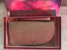 Kate Spade Joeley Multifunctional Glitter Bag Wristlet Wallet Rose Gold