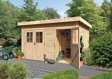 Karibu 28 mm Mittelwand Gartenhaus Tintrup naturbelassen