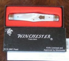 """92` Winchester USA 2967P Mother of Pearl Swell Center Muskrat Knife w/Box,3 7/8"""""""