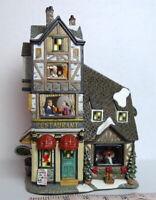 Victorian Village Barber Shop Grandeur Noel Restaurant Duo  2002 Christmas Decor