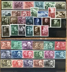 1941-1948 Hungary Semi-Postal Stamp Collection MH (N023)