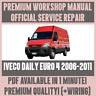 WORKSHOP MANUAL SERVICE & REPAIR GUIDE for IVECO DAILY EURO 2006-2011 +WIRING