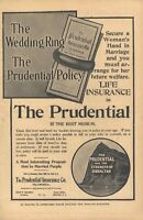 1906 Prudential Life Insurance The Wedding Ring Strength of Gilbraltar Old Ad