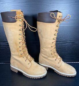 Timberland Knee High Womens Boots - Size 6 UK - Model: 3752R Tan Nubuk Leather