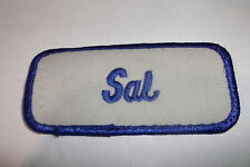 SAL USED EMBROIDERED VINTAGE SEW ON NAME PATCH TAGS ASSORTED COLORS AVAILABLE