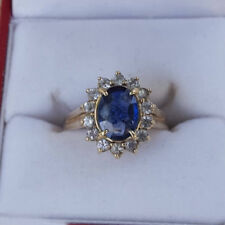 1.75 CT Kate Oval Gemstone Diamond Rings Fine 14K White Gold Ring Size M N P