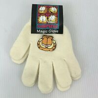 Garfield Women's Girls Gloves Ivory One Size Fits Most Acrylic Blend Vintage