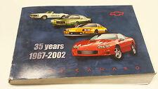 67-02 Chevrolet Camaro Betriebsanleitung/Bedienungsanleitung Englisch 10312870