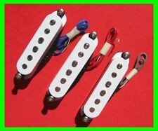 Three 2002 White Single Coil Pickups for Fender Strat with Screws & Springs*New*