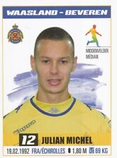 319 JULIAN MICHEL # FRANCE KV.WAASLAND-BEVEREN STICKER PRO LEAGUE 2017 PANINI