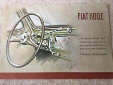 FIAT 1100E Car Sales Brochure c1949