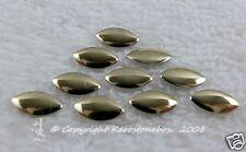 50 Hotfix Metall Formen Nailheads Sonderformen Oval Gold Karostoenbox Strass