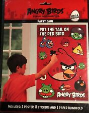 Angry Birds Put The Tail On The Red Bird Party Game and 8 Red Bird masks New.