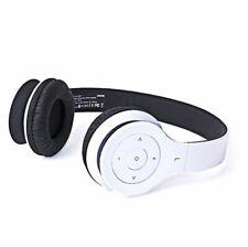Laser Wireless Bluetooth Headphones Headset w/ Mic for Smartphones PC Mac White