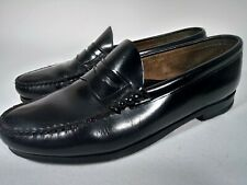 G. H. Bass Weejuns. Black Leather. Size 10.