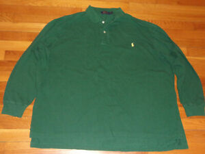RALPH LAUREN LONG SLEEVE GREEN POLO SHIRT MENS 3XL EXCELLENT CONDITION