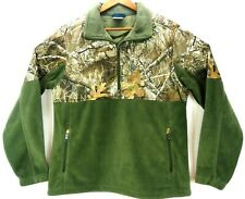 Columbia PHG Realtree Camo Green Overlay Fleece Zip Hunting Jacket Men's Size L