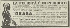 W4838 Okasa Präparat A Basis Von Hormone - Werbung Der 1934 - Vintage Advert