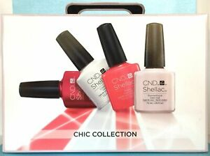 AUTHENTIC CND SHELLAC CHIC TRIAL 15PK UV LED SoakOff Gel Polish Intro Gift Set