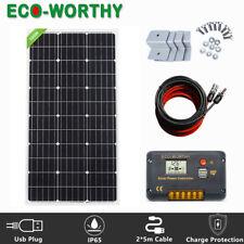ECO 100W Watt Complete Solar Panel Kit 12V Battery Charge For Caravan RV Camping