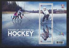 CANADA 2017 AMERICAN-CANADIAN ICE HOCKEY HISTORY MINIATURE SHEET FINE USED