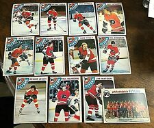 1978-79 O-Pee-Chee  philadelphia flyers 12 card team lot