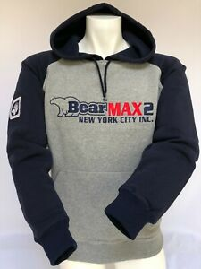 Mens BearMax2 New York City Hooded Sweatshirt Chest Logo Size S M