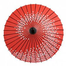 Wagasa Japanese umbrella Antique Japan umbrella ( Sakura spiral red)