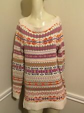 NWT! Women's Navajo Print Tunic Sweater by Lauren Ralph Lauren, Sz: S, $175 #19