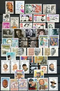 MOVIES AND MOVIE-STARS - 58 DIFFERSENT STAMPS + 1 M.S. all MNH -           Hk21e
