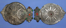 Antique Bulgarian Hand Made Woman Folk Costume Ornate Metal Belt Buckle