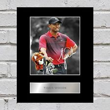 Tiger Woods Signed Mounted Photo Display