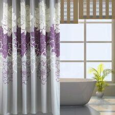"Waterproof Polyester Shower Curtain 72"" x 72"" Flower #2 + 12 Hooks"
