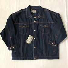 Vintage Jordin Sportwear Mens Denim Jacket Jean Blue Street Style Big Size 4X