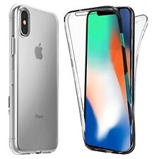 Front and Back Clear 360° Full protection Gel Cover Skin Case For iPhone X UK