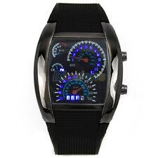 Herren Damen LED Digital Armbanduhr mit Silikon Armband Uhr