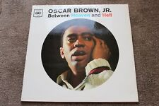 "Oscar Brown, Jr. LP  "" Between Heaven & Hell' ""  UK CBS BPG 62016 1961 EX+"