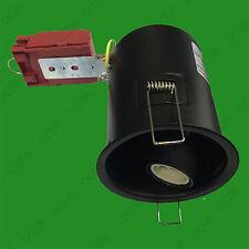 1 x Extra Lang GU10 LED Halogen Fass Brandschutz Deckenstrahler Dose Mit Feder