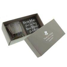 More details for best man whisky glass & coaster set