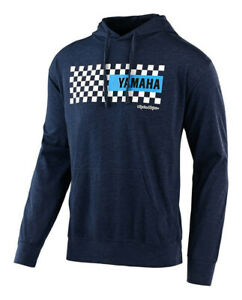 Troy Lee Designs Yamaha Checkers Pullover Hoodie Navy Heather