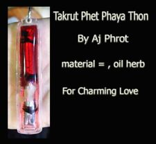 Thai Amulet Charming Attraction love  sex Takrut Phet Phaya Thon By Ajarn Phrot