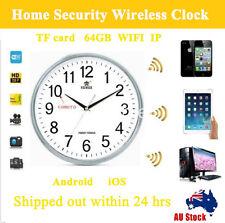 Wifi Hidden Wall Clock Camera Home Security Video Recorder HD No SPY DVR