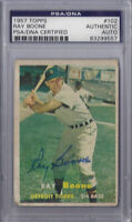 Ray Boone Signed 1957 Topps - PSA DNA