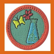 PLANTS ANIMALS Girl Scout Badge Orange Worlds Flower Butterfly NEW Multi=1 Ship