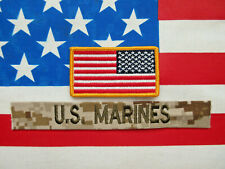 U.S Marines Usmc Pocket Tape Patch And American Flag Patch