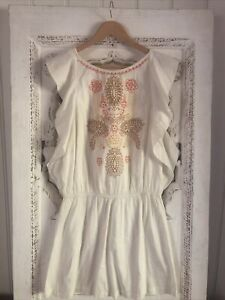 Antik Batik Embroidered Ladies Boho dress - size small 🌿🌸