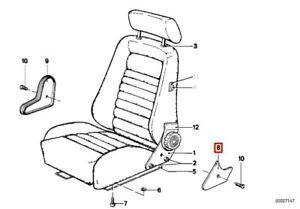 Genuine BMW 3 5 6 7 E21 E12 E28 Recaro Seat Adjusting Wheel Right Lower Covering